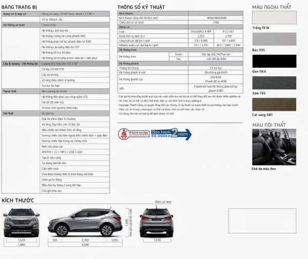 Xe Hyundai Santafe máy dầu 2014 19