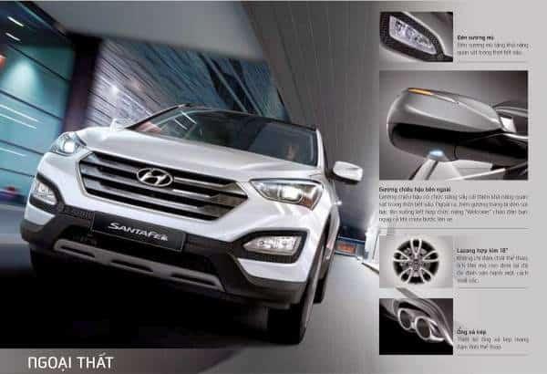 Xe Hyundai Santafe máy dầu 2014 17
