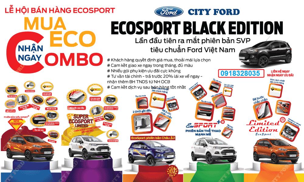 xe ford ecosport khuyen mai 2016 Xe Ford 5 chỗ gầm cao Ecosport Titanium Black Edition 2016