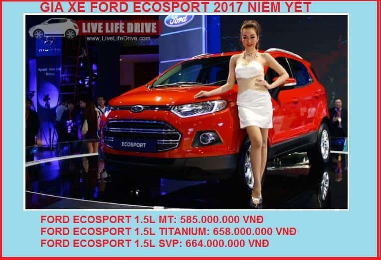 Giá bán xe ford Ecosport 2017
