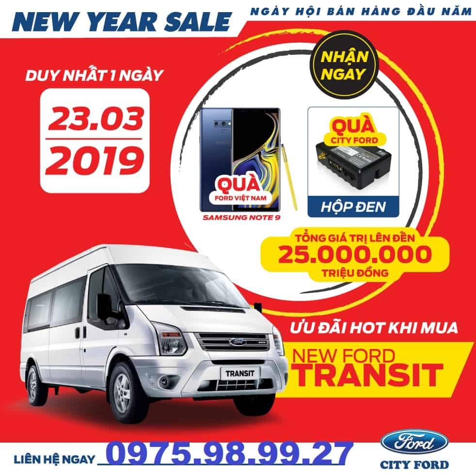 khuyen mai xe ford transit 2019