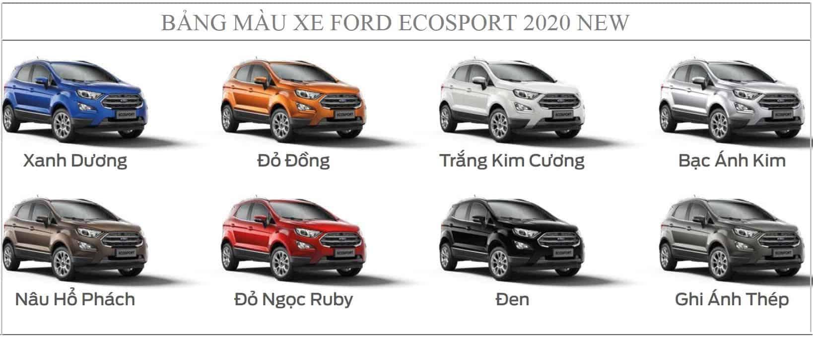 mau xe ford ecosport 2020 moi 1
