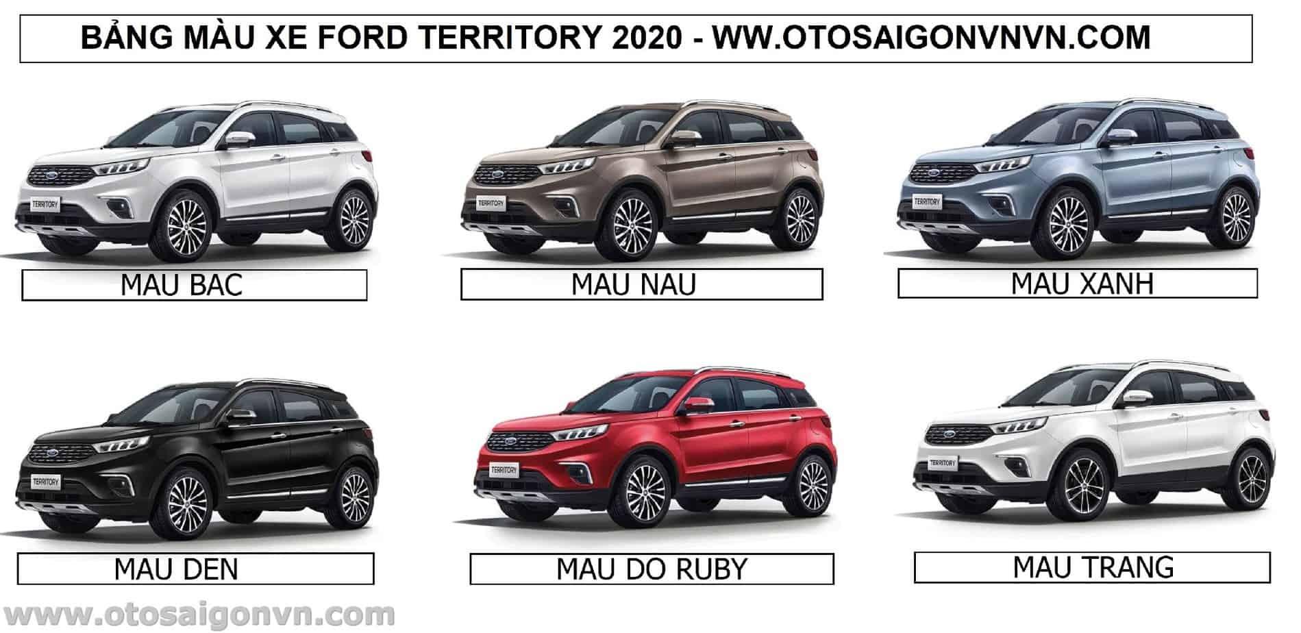 Xe Ford Territory 2021, Ford 5 chỗ Territory mới nhập giá bao nhiêu ? 20