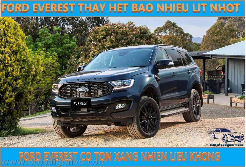 ford everest thay nhot het bao nhieu lit co ton xang nhien lieu khong11
