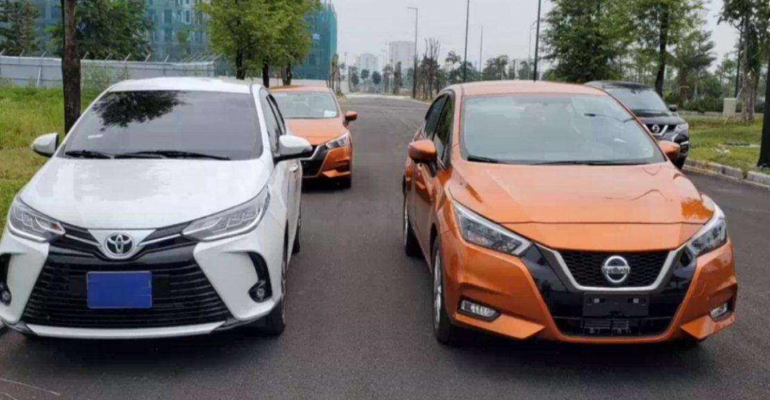 So sánh Toyota Vios và Nissan Almera 2021 về giá bán, trang bị tiện ích. 1
